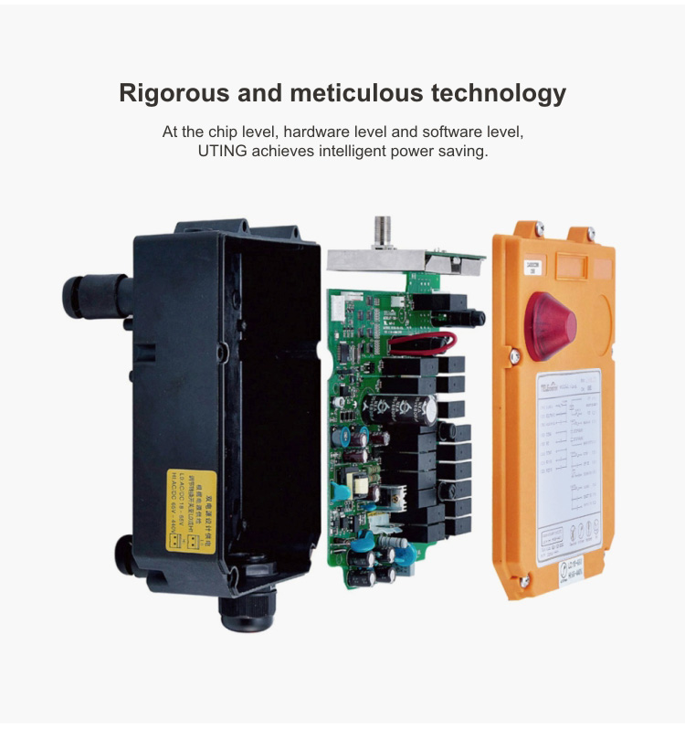 ไฟฟ้ารอกไร้สายวิทยุรีโมทคอนโทรล F24-8S รีโมทคอนโทรลอุตสาหกรรมก่อสร้างอุปกรณ์