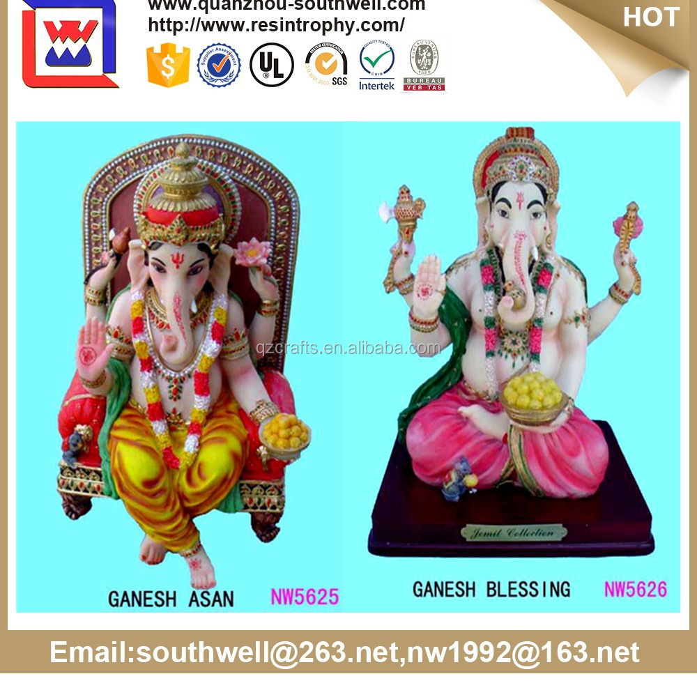 Holy colorful resin Hindu deities statue