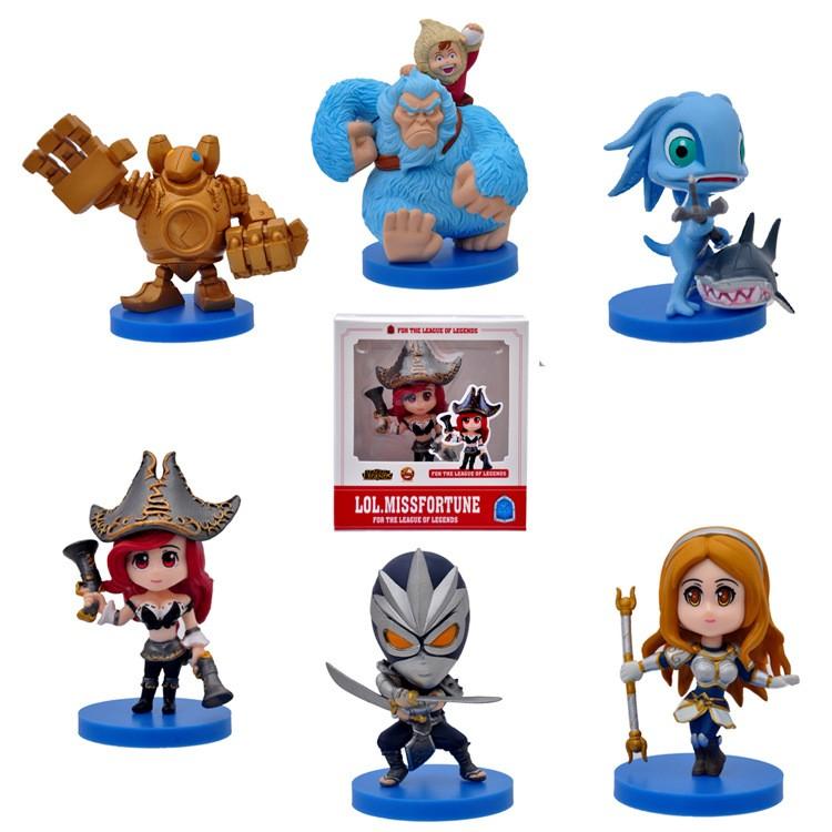 Free Shipping 12pcs League Of Legends Action Figure Ornaments 2sets ...
