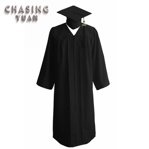 Wholesale Matte Black Academic Graduation Gown Cap