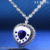 43164 Xuping fashion jewellery, cute heart of the ocean necklace pendant, rhinestone glass pendant white gold necklace