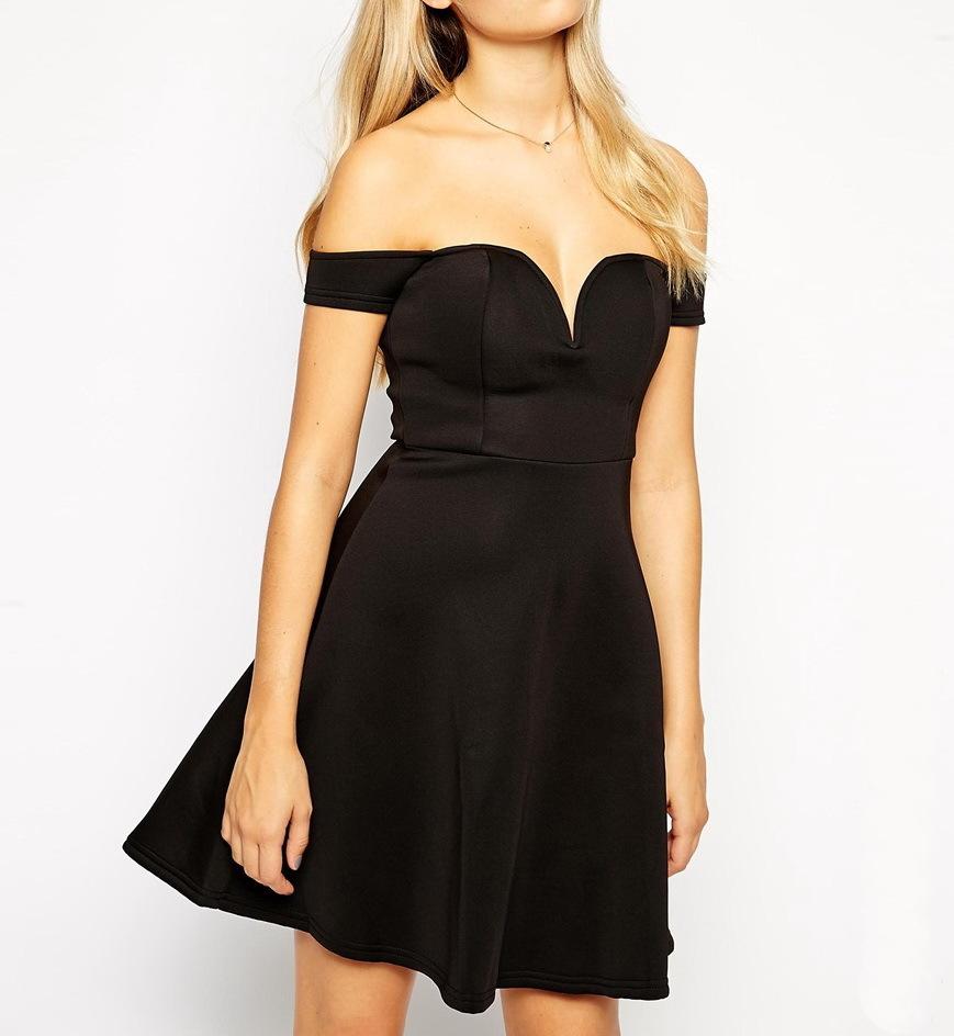 Heart Shaped Black Dress