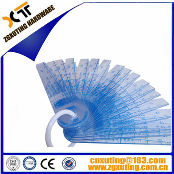 Filler Gauge Transparent Plastic Feeler Gauge Thickness Gauge ...