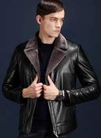 Autumn and winter jacket men's clothing in the thick PU fur leather coat young male locomotive