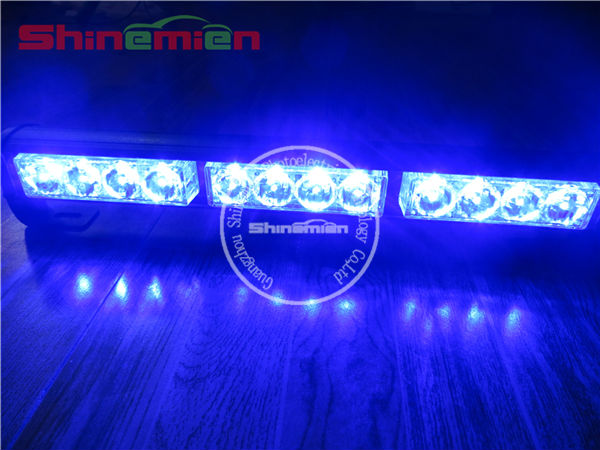 12led strobe light bars /Directional Light Bar /Blue Emergency Vehicle LED Strobe Warning Light