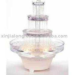 4 tiers acrylic cake stand with Fountain