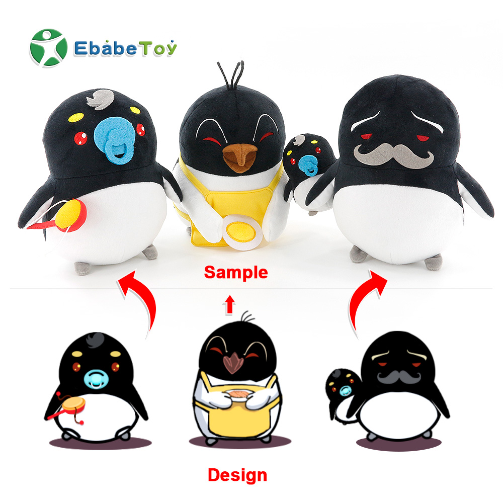 famous logo branded soft toys stuffed plush penguin doll lovely cute cartoon plush penguin Jumbo animals stuffed animal toy doll