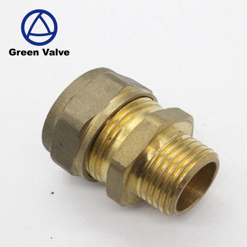 Gutentop Gas Pipe Compression Fitting Forged Brass Press Fiitting for Pex-Al-Pex Pipe Compression Tube Fitting