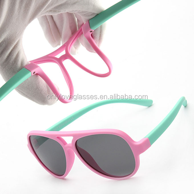 custom brand high quality silicon children polarized sunglasses