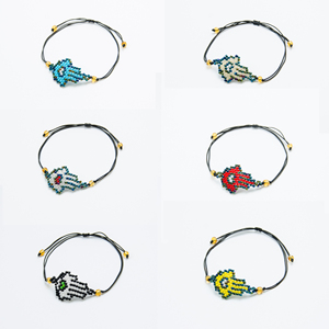New Arrival Hamsa Hand Bracelet Ladies Adjustable Rope Fashion Parts