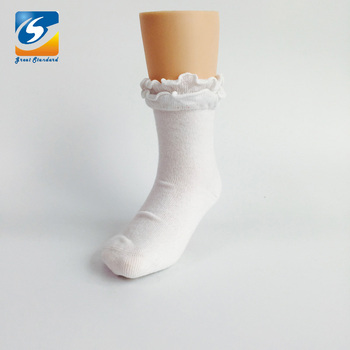 Cute Aganic Laces Plain White Baby Socks Baby Socks Organic Socks