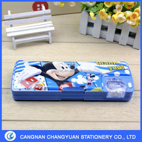 2016 New style pencil box with sharpener for kid