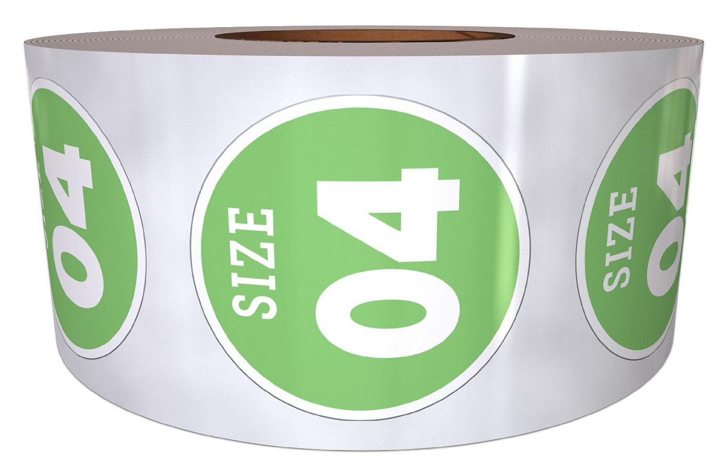 """3/4"""" Classic Shoe Size Labels with Permanent Adhesive (Size 4) - 500 Labels Per Roll – Labels for Retail – Shoe Size Labels"""