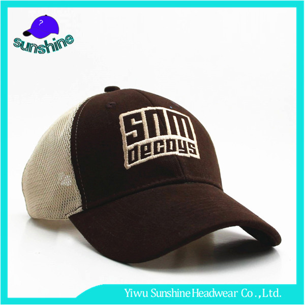 Promotional Letter Baseball Cap Wholesale Mesh Cap With Blank Closure