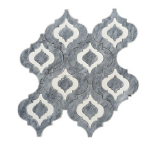 italy grey marble lantern arabesque pattern natural stone mosaic tile