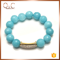 High quality turquoise bead bracelet stone jewelry