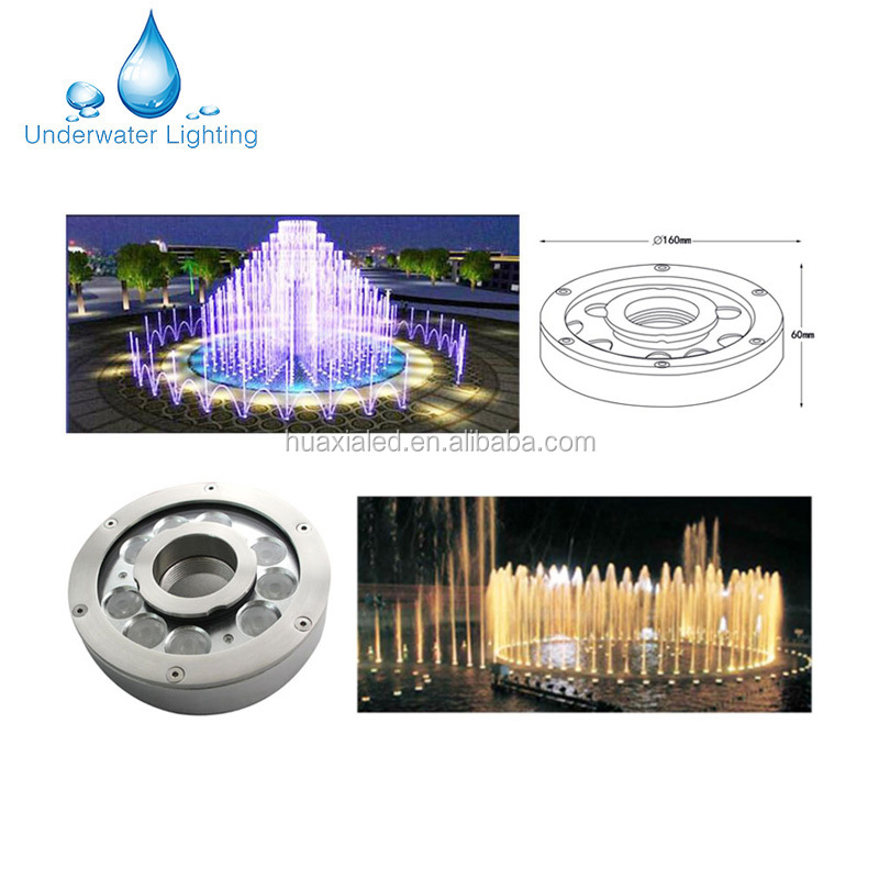 IP68 27W stainless steel Underwater LED Fountain Light 12V /24V