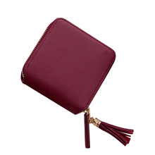 술 Faux Leather Card Holder Zip Coin Mini Purse 지갑 Coin 소 Purses 대 한 Girls Women