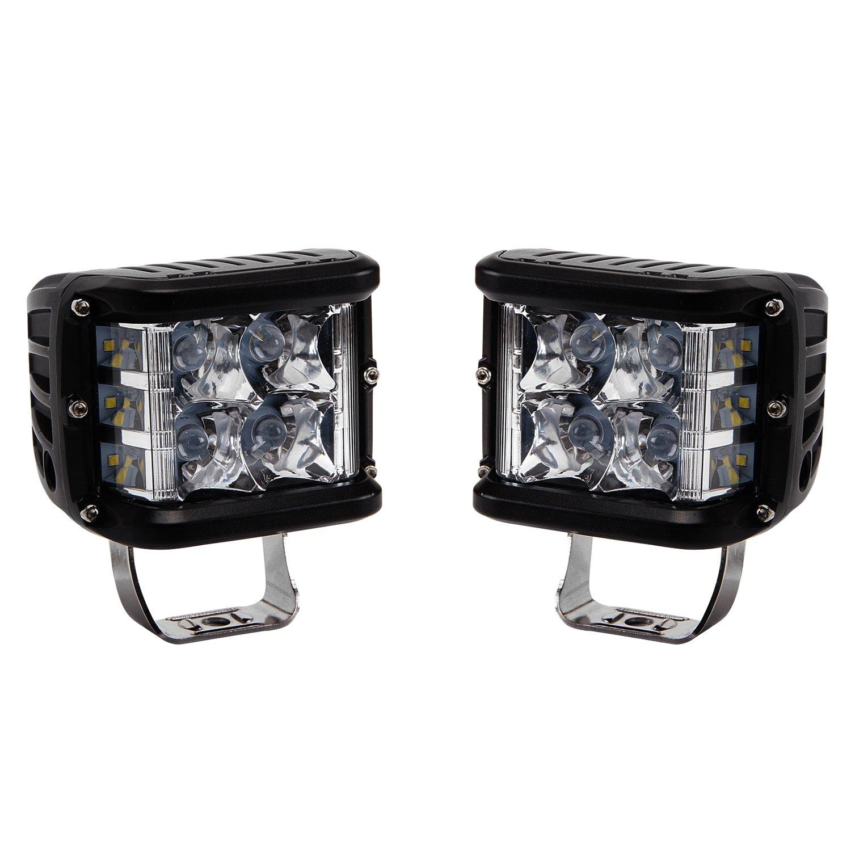 LED Light Bar, Northpole Light 2pcs 4 inch 35W Side Shooter LED Pods Spot Lights Driving Fog Lights LED Work Lights for Off Road, Truck, Car, ATV, SUV, Jeep