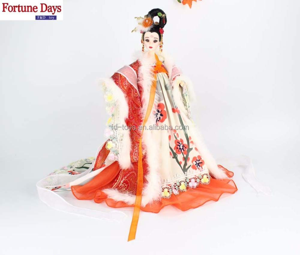 Wholesale multiple 14 moveable joints bjd <strong>doll</strong> in chinese ancient style winter.ver