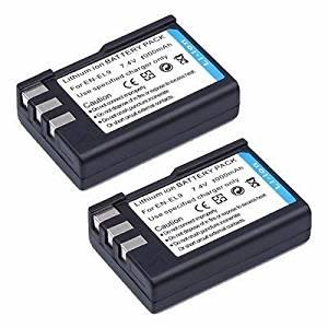2 Pcs EN-EL9 Rechargeable Battery Pack for Nikon D3000 D40 D40X D5000 D60