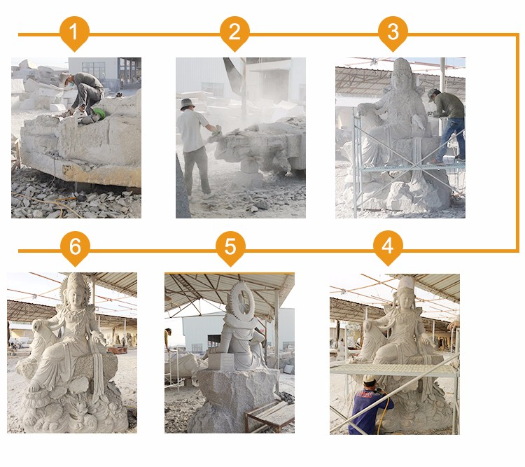 Granite Stone Animal Carvings Eagle Statue Garden Sculpture