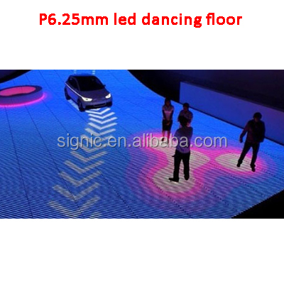 Alta definición interactiva todo Color LED panel video led pantalla electrónica para el baile