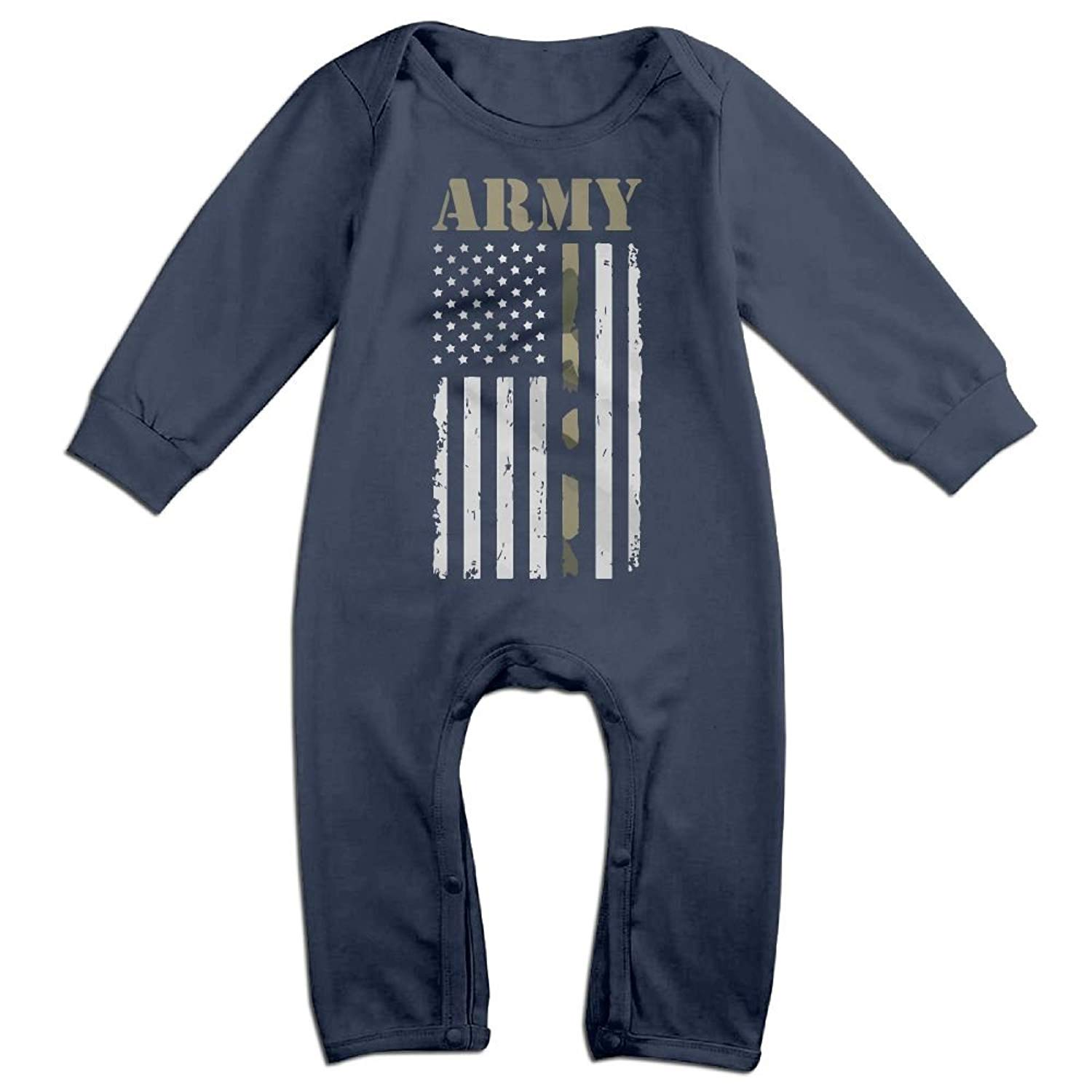 TREEWw Volleyball Lover American Flag Unisex-Baby Long Sleeve Romper Pajama Clothes Overalls