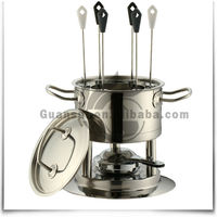 New Style 11pcs metal stainless steel fondue with forks