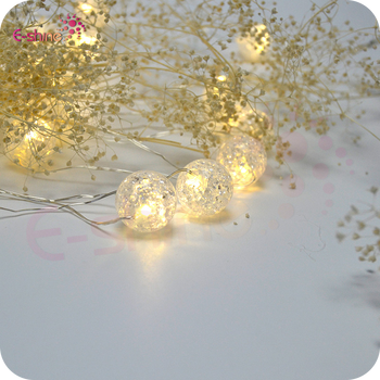 Warm White Micro Led String With 30 Lights Crack Beads Copper Wire ...