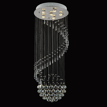 2016 modern ceiling light drop crystal chandelier for lobby with factory price