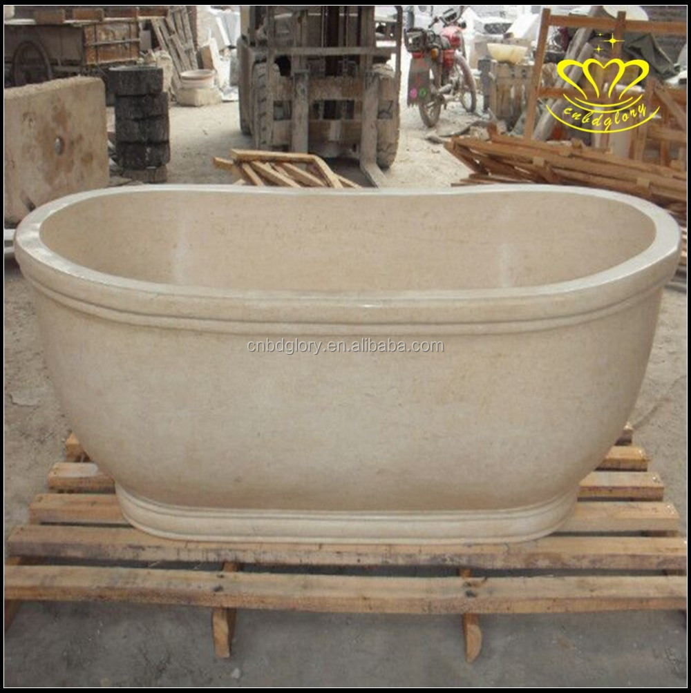 Alibaba China Suppliers New Product Oval Freestanding Marble Bath Bathtub