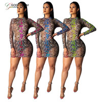 GC-66862539 Wholesale Supplies Plus Snake Skin Mesh Dress for Girl African clothing