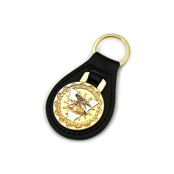Cheap Key Tag Chain Wholesale Design Custom Shape Real Genuine Leather