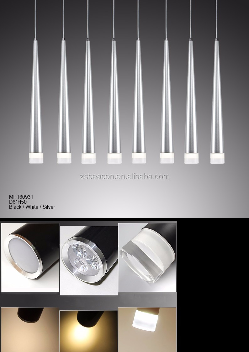 New taper acrylic led chandelier cone-shape modern LED Lamp ring MP9832C-6