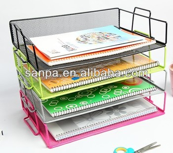 Metal Mesh Stackable A4 Paper Document File Tray Holder