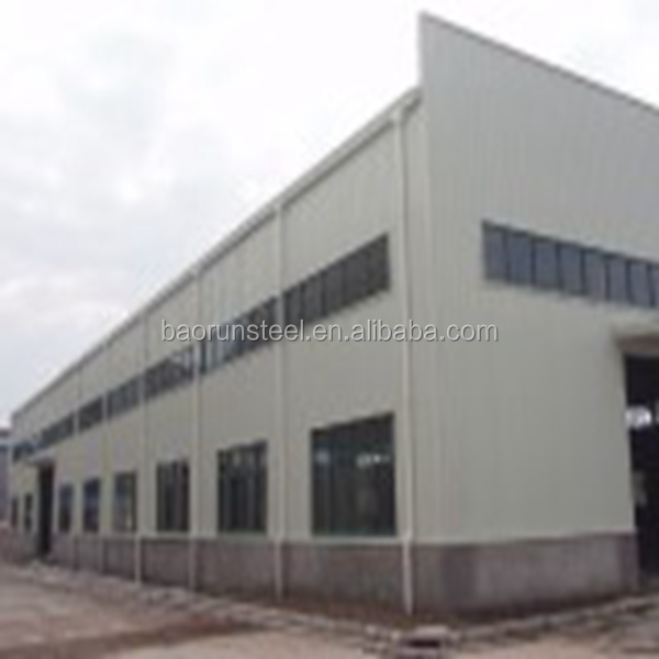 China manufacturer EPS andwich panel steel structure workshop