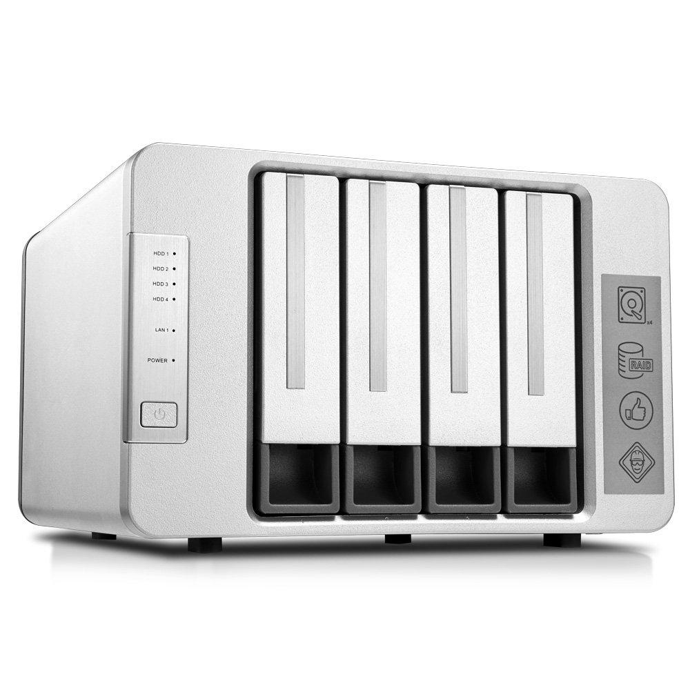 TerraMaster F4-220 NAS Server 4-Bay Intel Dual Core 2.41GHz 2GB RAM Network RAID Storage for Small/Medium Business (Diskless)