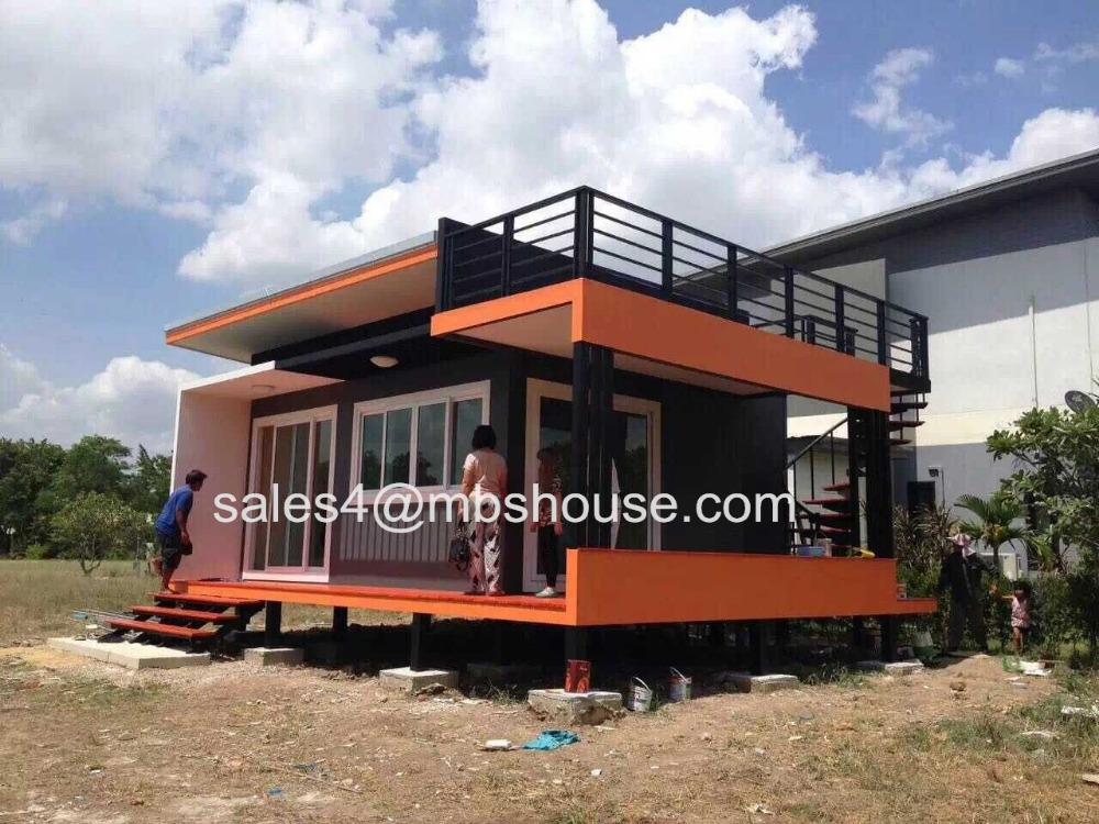 Super low cost prefabricated house fast build light steel for Cost to build a beach house