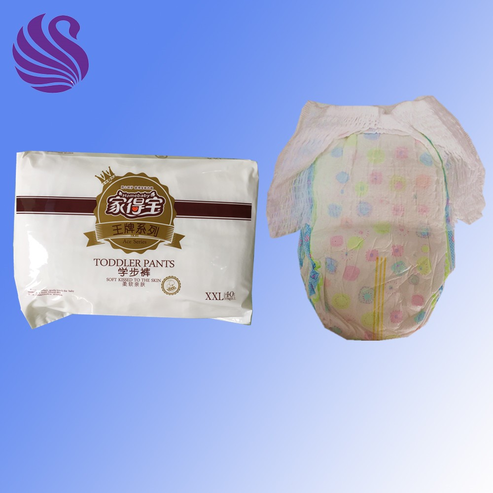 Grade A hot wholesale disposable baby diaper plastic pants export