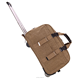 Weekender durable hand luggage trolley, men canvas trolley bag easy trip