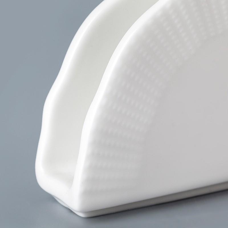product-cheap white ceramic napkin holder wholesale promotion napkin holder napkin holder for restau