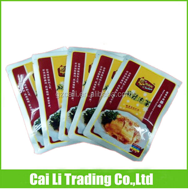 top opened food grade 3 side seal metalized pickle pouches
