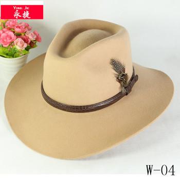 100% Australiano Feltro Di Lana Cappello Da Cowboy Impermeabile ... 590fab6d2c40