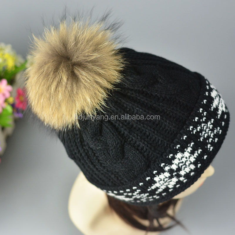 animal hood hats with pom ear flaps Bobble Ski Hat Beanie Personalized  Winter Hats 6599e6ac4a3