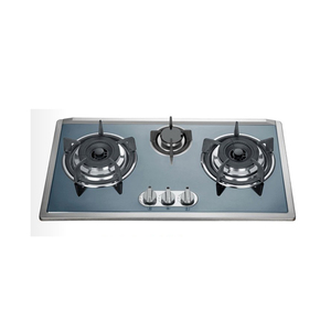 Professional factory stainless steel 3 burners top gas cooker / gas hob