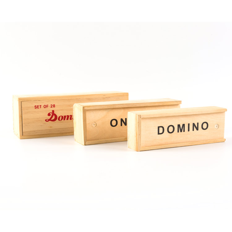 China Leverancier Top Sale Kids Outdoor Speelgoed Hout Kids Domino Set