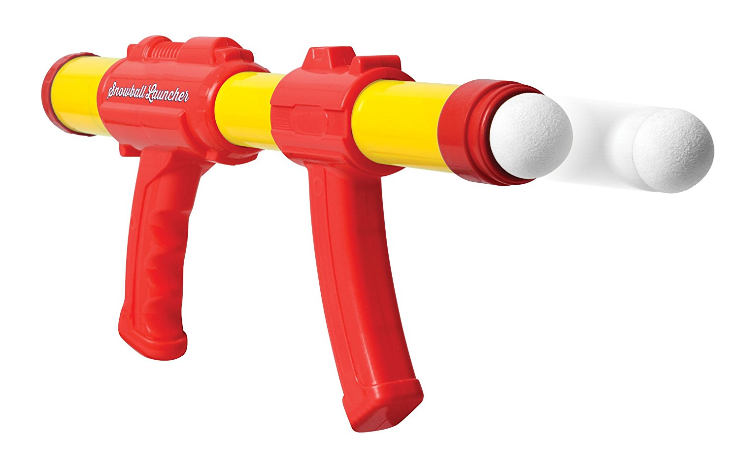 Snowball Blaster Launcher Shooter With Target and 8 Snow Balls - Air Pump Pressure Gun Blasts Launches Shoots Snowballs - Kids Children Boys Girls Science Snowball Fight Top Toy by Perfect Life Ideas