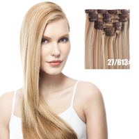 Wholesale Cheapest 100% Vrigin Human Hair Full Head 7pcs set with 16pcs Clip In Hair Extensions on sale with DHL shipping