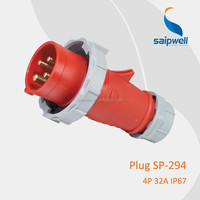 32amp 380v European standard round 4pin Power Plug with CE Approved (SP-294)